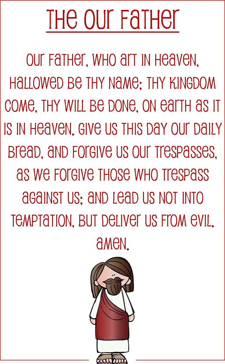 Learn Our Father Prayer / The Lord's Prayer for Children ...