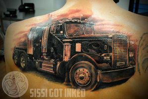 1000 images about trucker tattoos on pinterest harley davidson truck rigs and grey tattoo. Black Bedroom Furniture Sets. Home Design Ideas