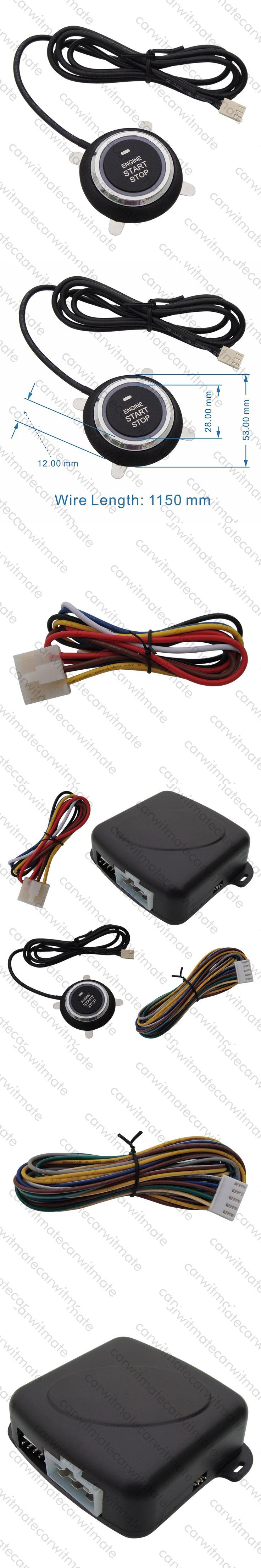 Universal Car Engine Start Stop System Push Button Start Stop Original Car Key Remote Start 10 Minutes Countdown Stop Car