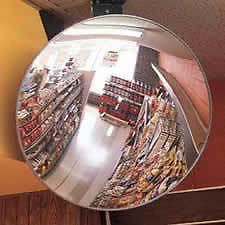 CONVEX SECURITY MIRROR (pretty cool for the man cave, no?)
