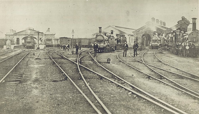 Old Sydney Railway Station  C 1875 by State Records NSW, via Flickr