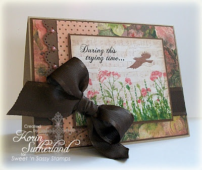 Sweet & Sassy stamp sets were used on this card