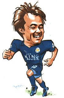 """Caricature Show"": 052.Shinji Okazaki (Caricature World Cup 27)"