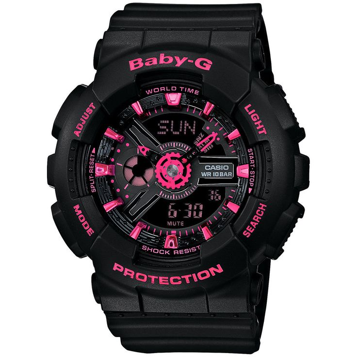 Casio Baby G Shock Analog Digital Pink Dial Watch BA111-1A