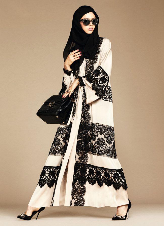 Dolce & Gabbana Hijab Abaya Autumn/Winter 2016-17 Collection Fashion - Tom Lorenzo Site