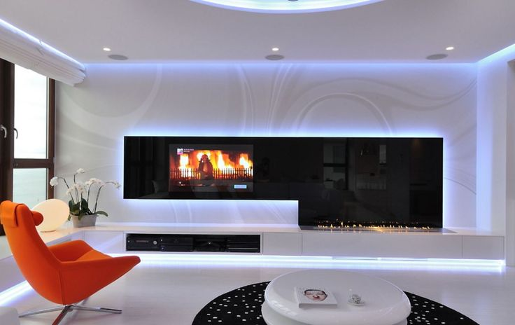 Bioethanol fireplace, bespoke model with WIFI control. BEspoke model and safe to use.  #tvabovefireplace #moderndecor #contemporarylivingroom
