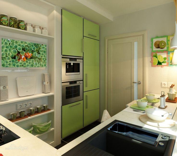 Маленькая кухня: тонкости оформления и 80+ максимально функциональных интерьеров http://happymodern.ru/dizajn-malenkoj-kuxni-6-kv-m/ Светлые цвета и оттенки не будут зрительно нагружать комнату, а наоборот помогут зрительно увеличить комнату