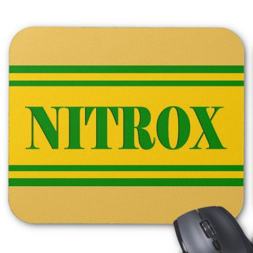 NITROX DIVING LOGO NITROX SCUBA DIVER - MOUSE PAD