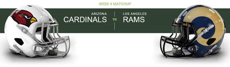 Los Angeles Rams at Arizona Cardinals University of Phoenix Stadium — Glendale, AZ on Sun Oct 2 at 1:25pm, From $40.00