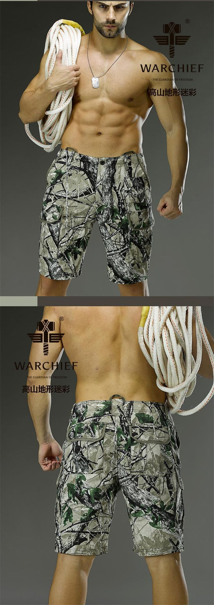 Chiefs Bionic Camo Combat Short Pants(Alpie Terrain)