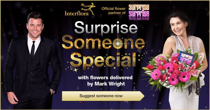 Surprise someone special with flowers delivered by Mark Wright