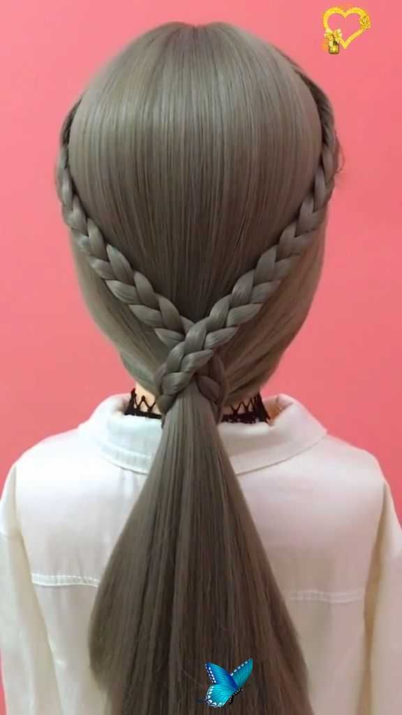 14 Easy Braided Hairstyles And Step By Step Tutorials Easy Video Quick And Easy Braid Hair Tutorial Image Source Br I 2020 Frisyrideer Flata Har Langre Har