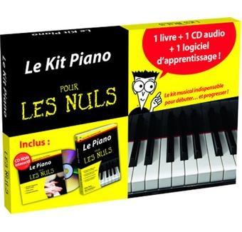 Pratique et malin, ce kit comprend : le livre poche du Piano pour les Nuls ; le CD audio du livre; et une méthode d'apprentissage interactive complémentaire, sur CD-rom, en 40 leçons progressives. Le CD-rom permet d'apprendre facilement les plus grands airs au piano. Le kit contient un métronome et un enregistreur digitaux.