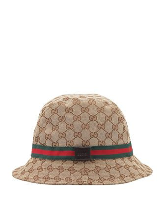 GG Bucket Hat, Beige by Gucci at Bergdorf Goodman.