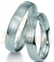 Βέρες γάμου από πλατίνα με διαμάντι Breuning 9001-9002