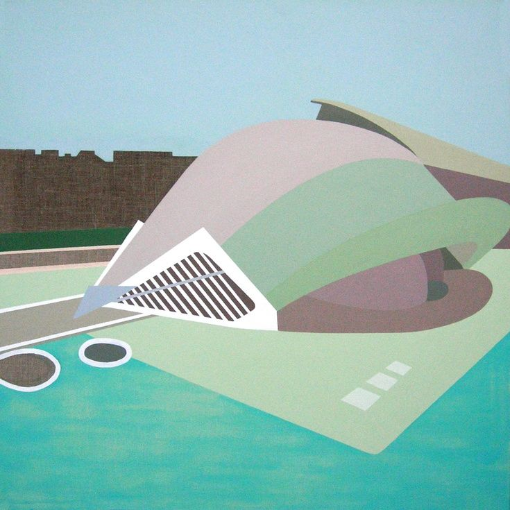 Valencia 4 by Lucie Jirku - Original painting in acrylic on standard edge canvas.
