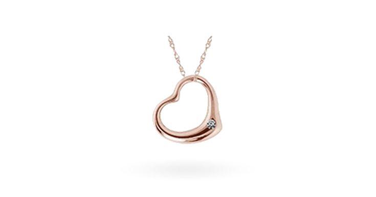 KLENOTA Heart Rose gold pendant
