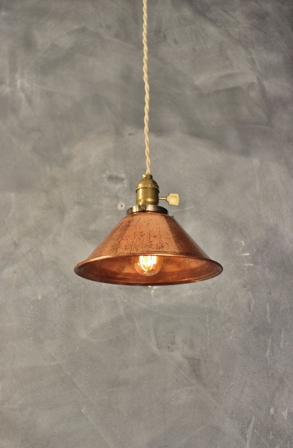 Hey, I found this really awesome Etsy listing at https://www.etsy.com/listing/197802976/weathered-copper-pendant-lamp-vintage