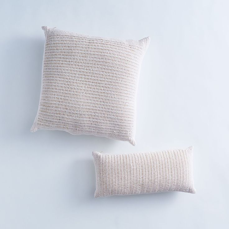 Crocheted Cotton Throw Pillow on Food52