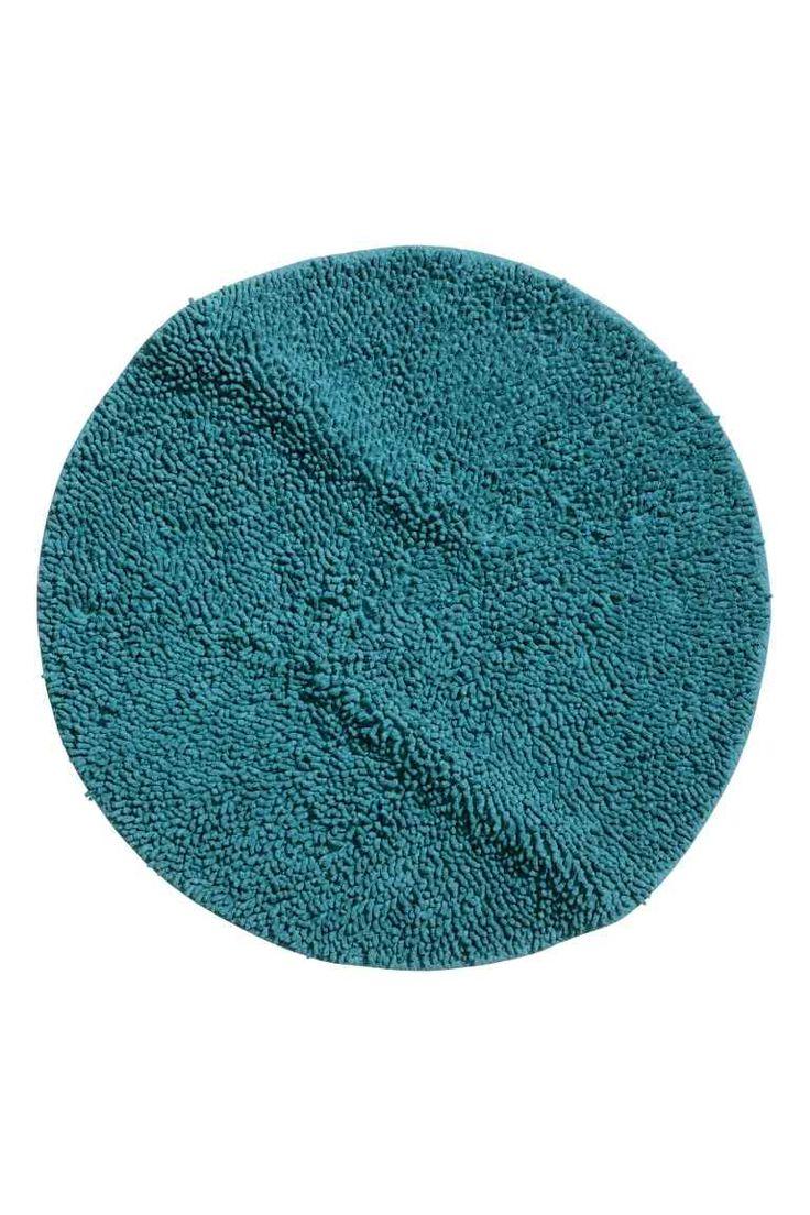 Dywanik łazienkowy: Okrągły, miękki dywanik łazienkowy. Brzeg obszyty taśmą…