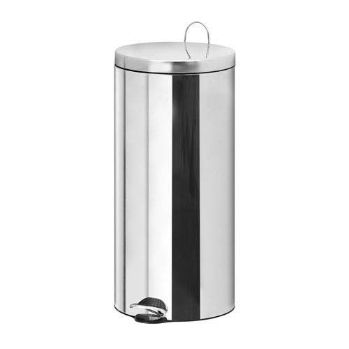 IKEA - RACKEL, Pedal bin, The bin is easy to move since it has a handle on the back.Easy to empty and clean as the inner bucket can be removed.You can use this bin anywhere in your home, even in damp areas like the kitchen and bathroom.