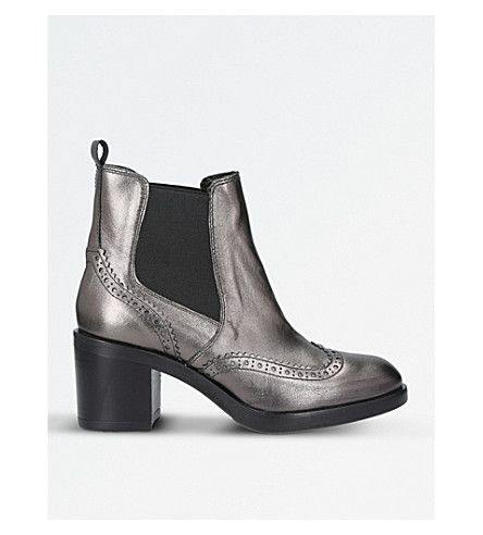 CARVELA   Slow Down metallic-leather Chelsea boots #Shoes #Boots #Chelsea boots #CARVELA