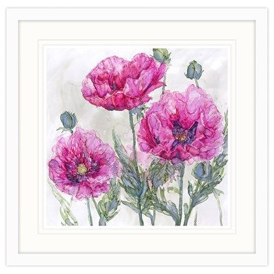 Pink Opium Poppies Framed at Whistlefish Galleries - handpicked contemporary & traditional art that is high quality & affordable. Available online & in store