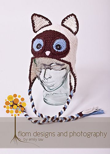 Crochet Siamese Cat Hat Pattern : 12 best images about Cat Hats on Pinterest Siamese cats ...