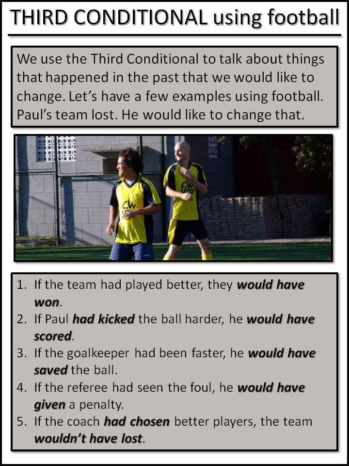 AskPaulEnglish: THE THIRD CONDITIONAL ... using football