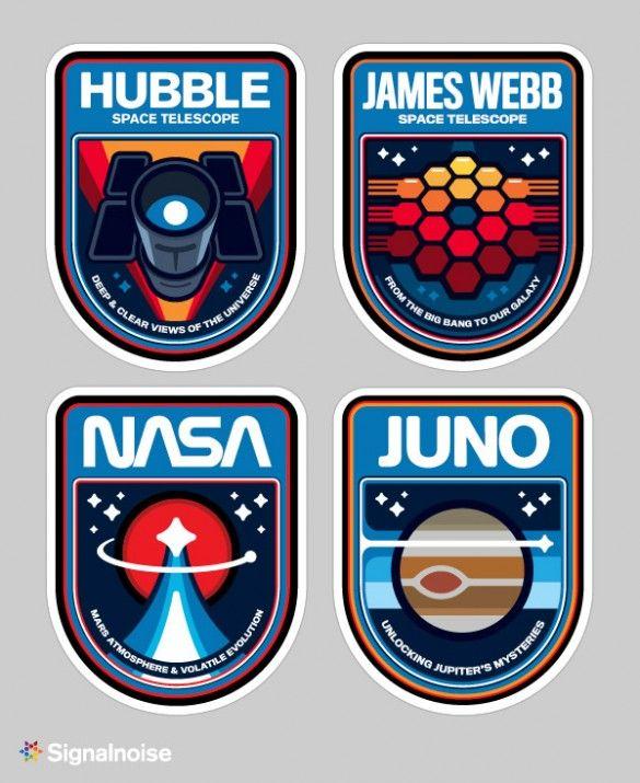 NASA Mission Patches. Grandes recuerdos de nuestra G.U.S.A. para Campofrío Galácticos Unidos Sociedad Aeroespacial.