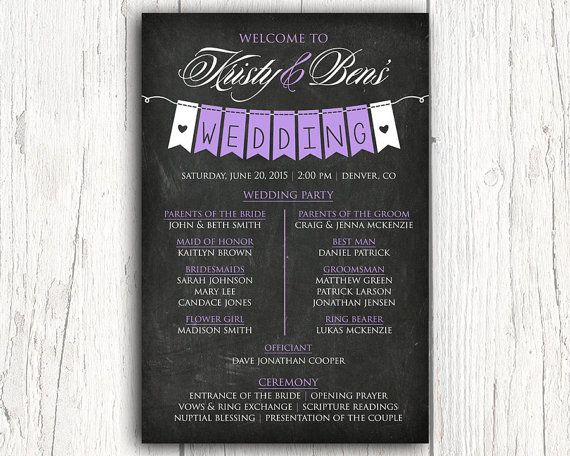 Hey, I found this really awesome Etsy listing at https://www.etsy.com/listing/222996368/chalkboard-wedding-program-sign-outdoor