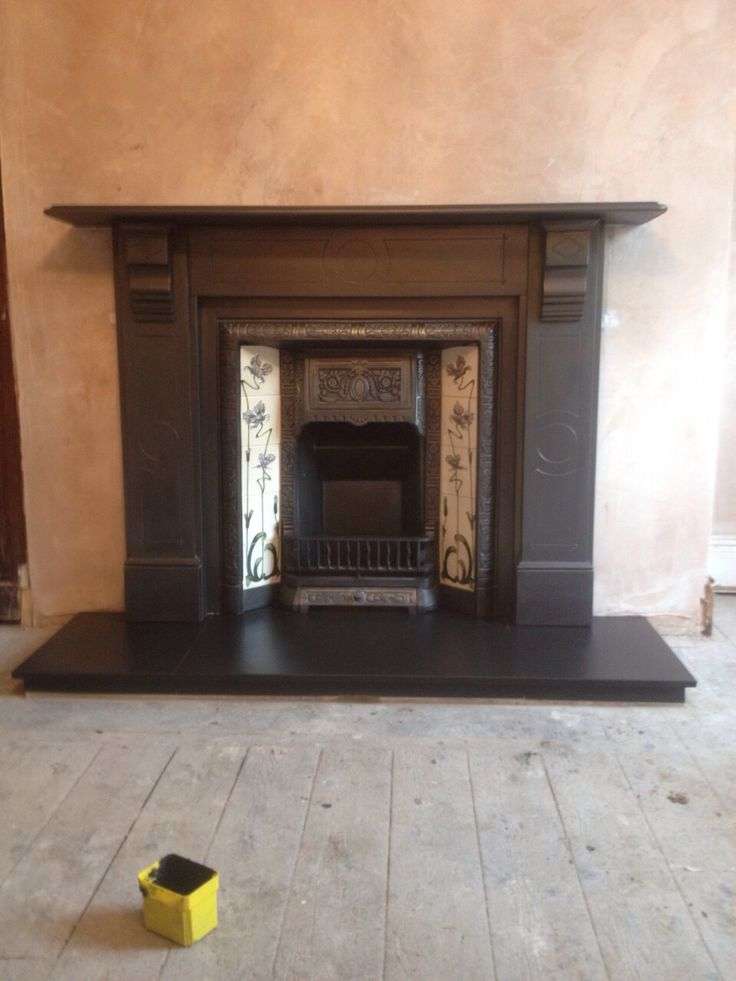 Victorian Slate Fireplace Surround Fully Restored And Complete With Cast  Ironu2026