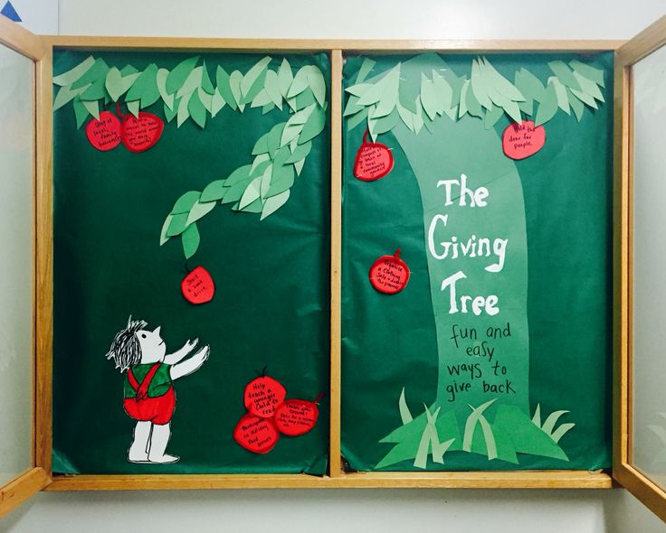 "Resident Assistant Bulletin Board based off ""The Giving Tree"" by Shel…"