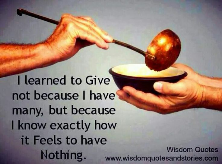 Learn to give..