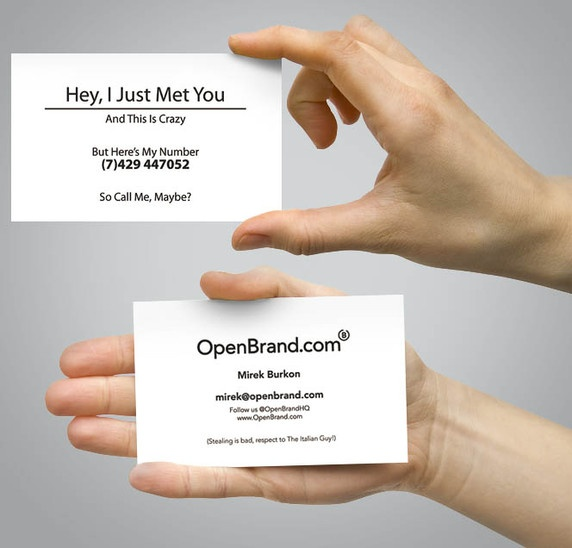 Fancy New Business Cards. Call Me, Maybe?