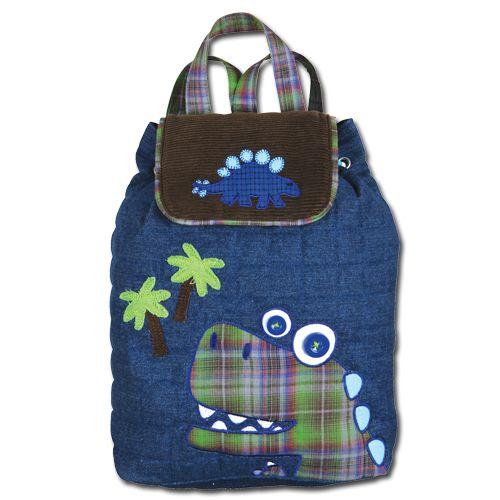 Dotty Hippo - Stephen Joseph Signature Quilted Dinosaur Backpack, £20.00 (http://www.dottyhippo.co.uk/stephen-joseph-signature-quilted-dinosaur-backpack/)