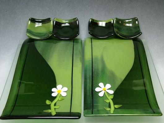 Sushi Anyone? - Delphi Fused Glass  - I really like this set!  Delphi always posts usable but beautiful items