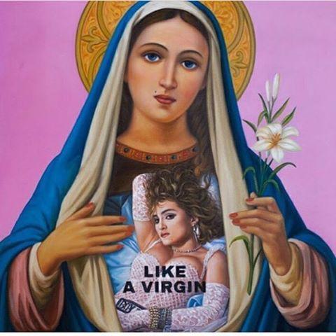 """@madonna_time på Instagram: """"Like A Virgin #madonna #madonnaart #madonna_time #virgin #likeavirgin #mary #religion #saint #mdna…"""""""