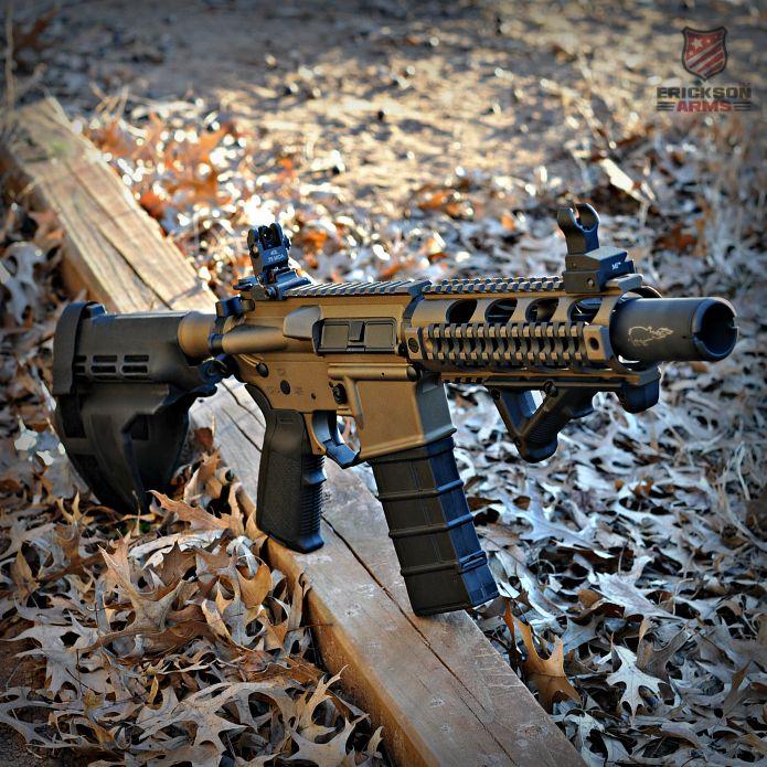 Spikes Tactical AR15 pistol in Burnt Bronze&Graphite Black