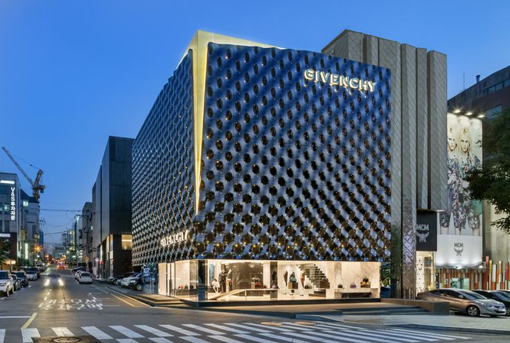 piuarch completes new flagship store for givenchy in seoul - designboom | architecture