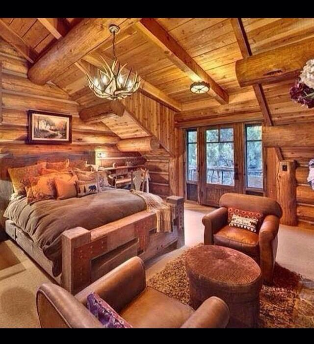Woodideas Sheet Rock And Cabin Bedroom: 117 Best Log Cabins. Images On Pinterest