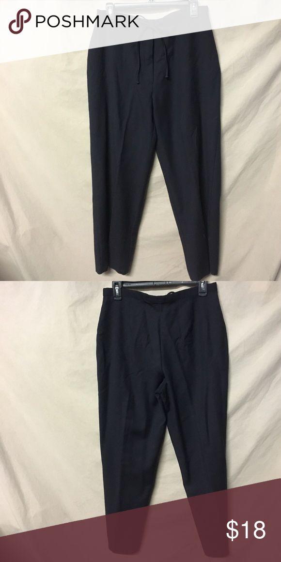 Marks & Spencer's Black Slacks Marks & Spencer's Black Slacks with zipper fastener and tie Front Size U.K.  14 equal to women's U.S. 10 Mark's & Spencer's  Pants Trousers