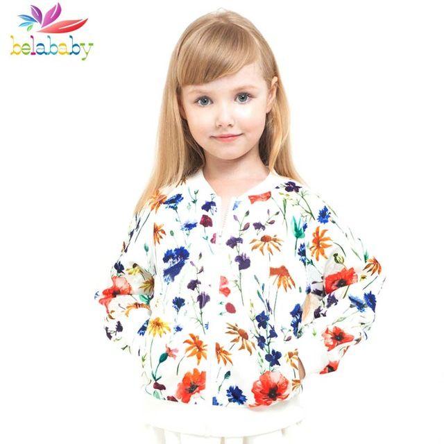 Belababy baby meisjes jassen 2016 Herfst kinderen vest honkbal uniform bovenkleding kinderen winterjas voor meisjes jongens