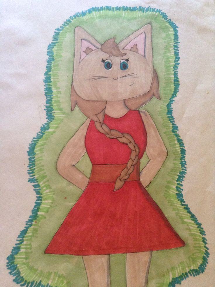 Animated Cat human drawing