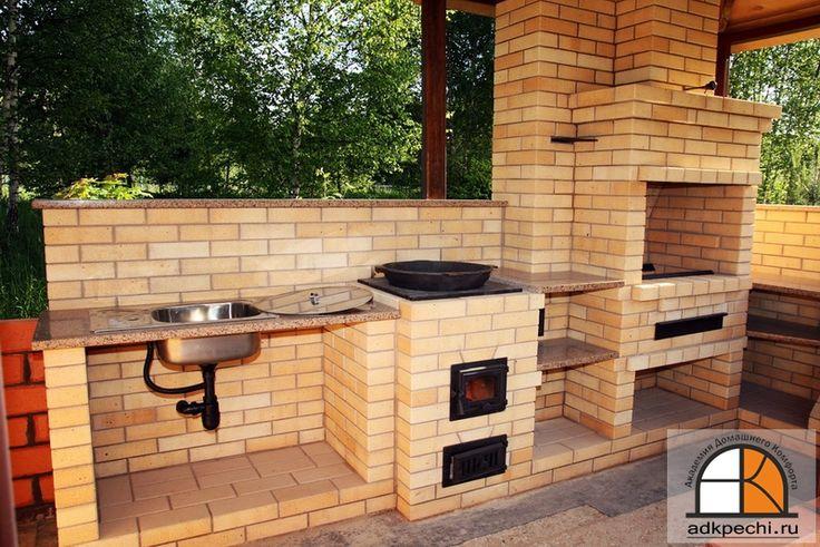 Летняя кухня: мангал печь для казана