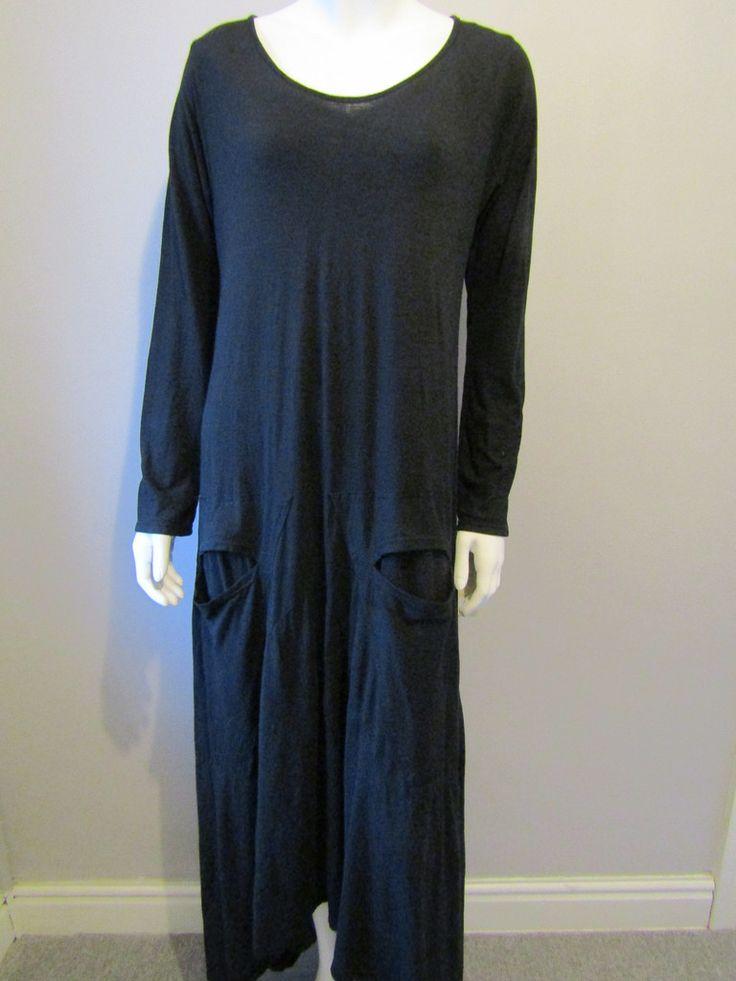 Lagenlook long dress 170 black