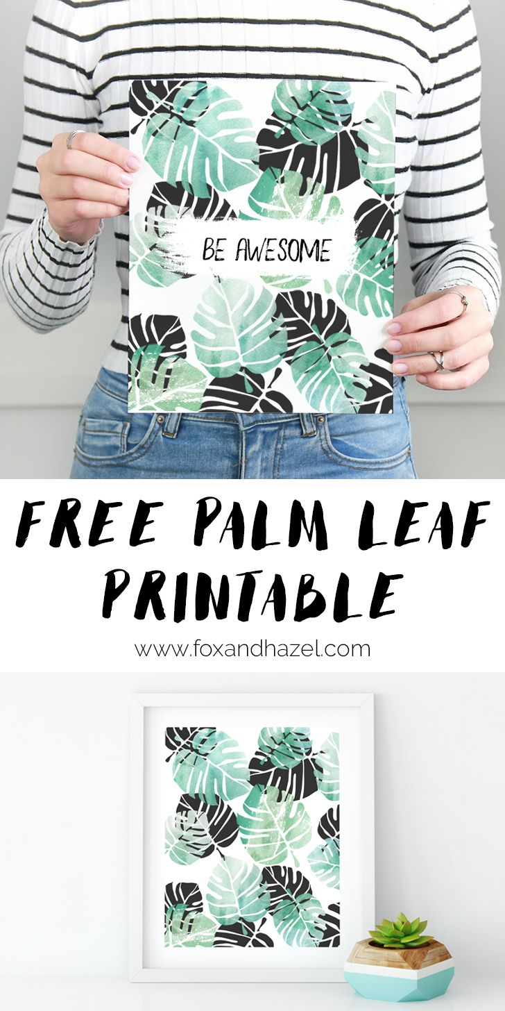 I dream of having my own palm tree some day (preferably when my kids are old enough to stay out of the dirt!) Until then, this free tropical leaf printable will have to satisfy that desire!