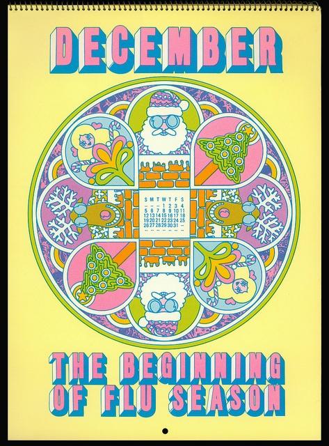 Psychedelic Hallmark Calendar, 1970 - 12/71 by MewDeep, via Flickr
