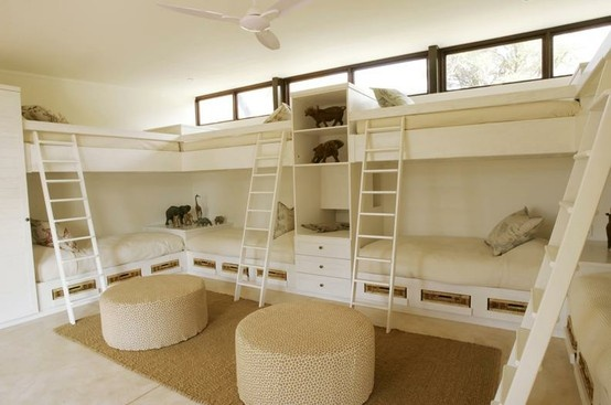with 4 girls, I may need this many beds for grandkids! fingers crossed!