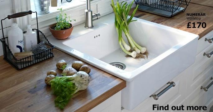 Ikea Kitchen With Wood Worktop U0026 Butler Sink Kitchens Pinterest Butler Sink